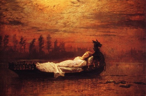 The Lady of Shalott by John Atkinson Grimshaw