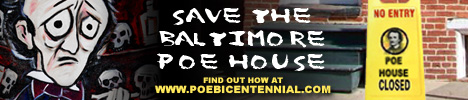 Banner to save Poe House in Baltimore