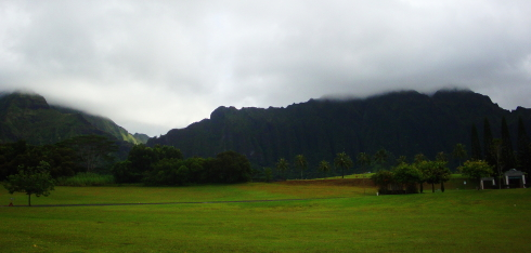 View at Hawaii State Veterans Cemetery in Kaneohe.